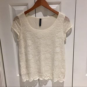 Gorgeous Ivory Lace Top