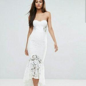 Dresses & Skirts - Jarlo White Lace Sweetheart Dress