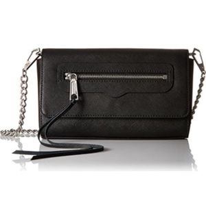 Rebecca Minkoff black Avery crossbody chain bag