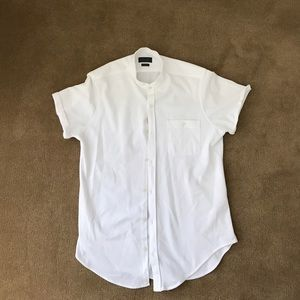 Zara short sleeved mandarin collar buttondown