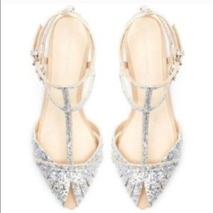 ISO Zara glitter flats size 36