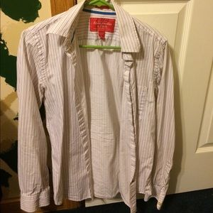 Abercrombie button down size S white muscle cut