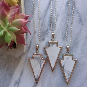 Simple Sanctuary Jewelry - 🌺 White Howlite Arrowhead Necklaces