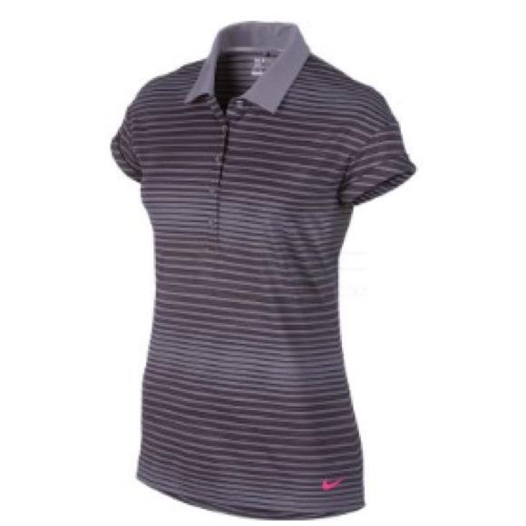 6e9b308d Nike Tops | Womens Sport Novelty Polo Purple Stripe | Poshmark