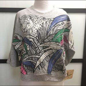 Sergio Valente Tops - SERGIO Valente Vintage Cropped Sweatshirt Top