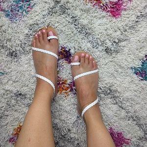 Ancient Greek Sandals Shoes - NEW Eleftheria Ancient Greek Sandals White 38