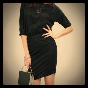 Oblique bodycon little black dress  LBD