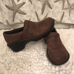 Born Shoes - Born brown Heeled Clogs
