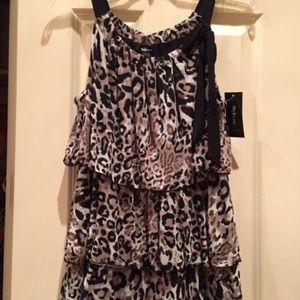 Style & Co Tops - NWOT. Women's Leopard Print Sheer Blouse