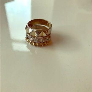 nOir Jewelry Jewelry - Noir spike set of three rings