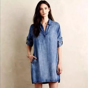 Cloth & Stone Adalie Chambray Dress Anthro size S