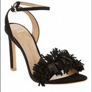 BR Ankle Strap Heel with Frings