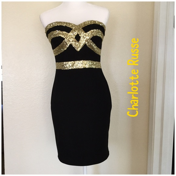 b39a70b83a179 Charlotte Russe Dresses & Skirts - 🆕 Charlotte Russe gold sequin cocktail  dress