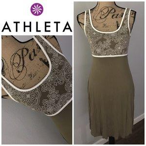 ATHLETA Floral Sporty Casual Tank Dress Athleisure