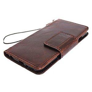 Vintage Leather Accessories - Google Pixel Wallet Case, Genuine Leather