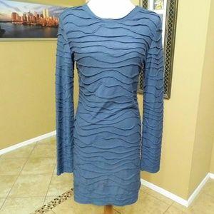 Bisou Bisou Dresses & Skirts - Bisou Bisou Navy Long Sleeved Dress
