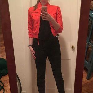 cropped, orange forever 21 jacket size medium