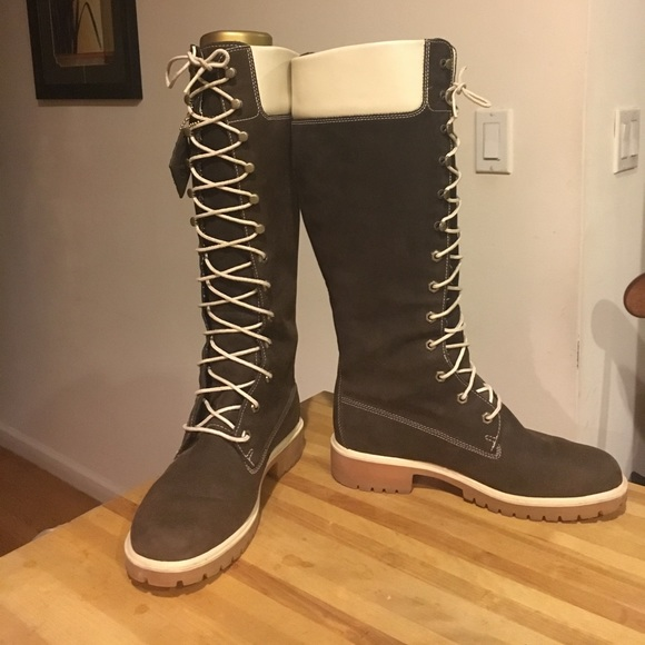 Chocolate Knee high Timberland boots. M 59421113522b45df8a01e994 48cf2d193a