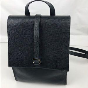 meli melo Azzurra Italian Leather Backpack
