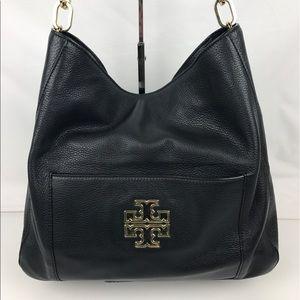 Tory Burch Handbags - Tory Burch Britten Leather Hobo Shoulder Bag