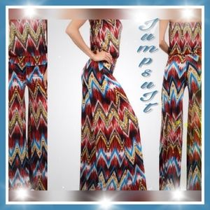 NEW GORGEOUS STRAPLESS jumpsuit wide leg /Palazzo