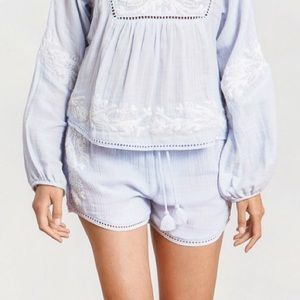 Misa Los Angeles 'Deena Shorts' in Powder Blue