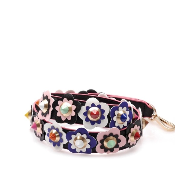 Closetblues Straps Flowers And Multicolor Spikes Guitar