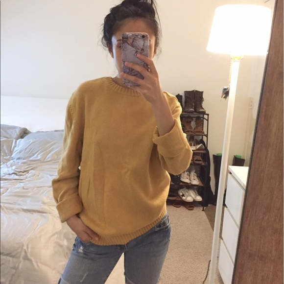 Vintage - Basic Mustard Yellow Crew neck Sweater from !'s closet ...