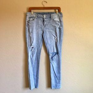 Articles Of Society Denim - Articles of Society Distressed Skinny Jeans