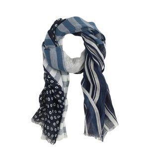 j. crew indigo-patch scarf