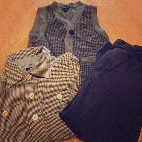 GAP - Boys Formal Outfit - Dress Shirt - Vest - Pants From Andyu0026#39;s Closetu0026#39;s Closet On Poshmark