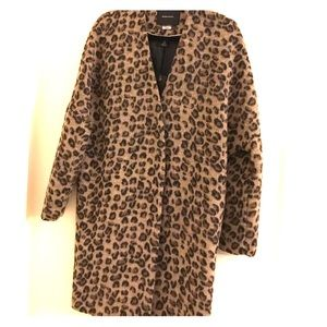 Scotch & Soda Jackets & Blazers - Scotch Leopard Print Wool Coat