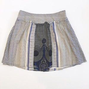 Anthropologie Geometric print cotton skirt