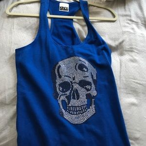 Kings of Cole Tops - Kings Of Cole Blue Skull Tank
