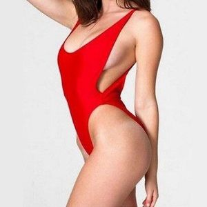 Other - Red Monokini One Piece Swimsuit Backless Swimwear