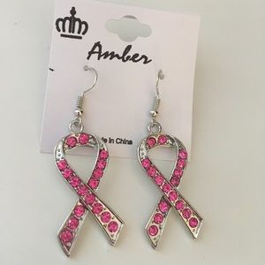 Breast Cancer Awareness Earrings Hook