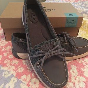 Sperry Top-Sider Shoes - Sperry top-sider Laguna medium grey leopard print
