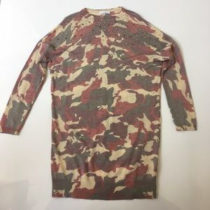 Byblos Other - Byblos Camo Jeweled Sweater Dress Size 8