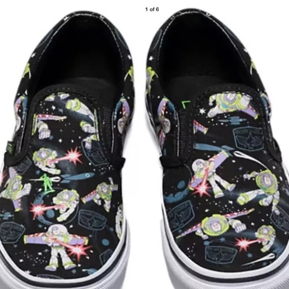 e0d278109e Vans Kids Toy Story Buzz Lightyear Slip On Shoes