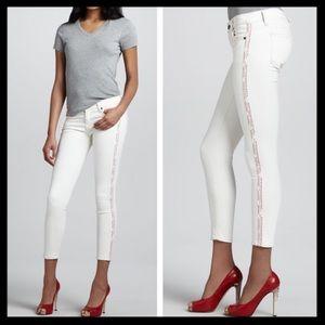 Elizabeth and James Denim - elizabeth & james // white side stripe jeans