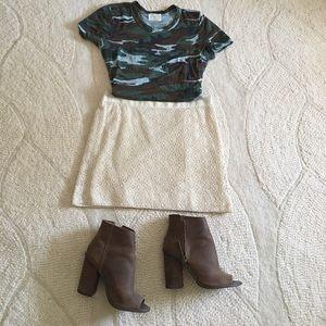 J Crew cream lace skirt 4