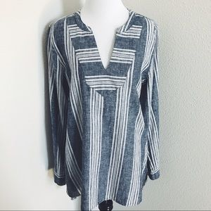 Old Navy Tops - Old Navy Striped Chambray Tunic