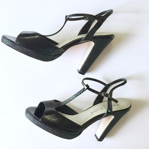 White House Black Market Black Sandals Heels