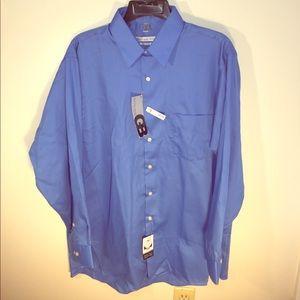 """Geoffrey Beene Other - NEW Large 16"""" Neck Sateen Long Sleeve Dress Shirt"""
