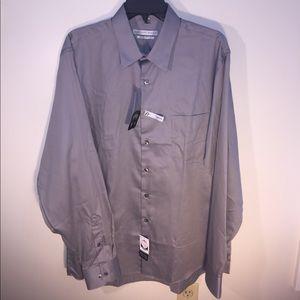 "Geoffrey Beene Other - NEW Size 16 1/2"" Neck Sateen Long Sleeve Shirt"