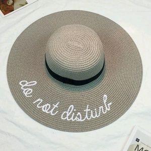 "Accessories - 🌕SALE🌑Foldable Gray ""Do Not Disturb"" Sun Hat"