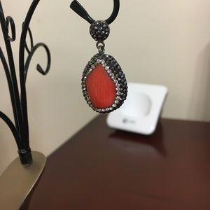 Jewelry - Druzy sterling silver pendant
