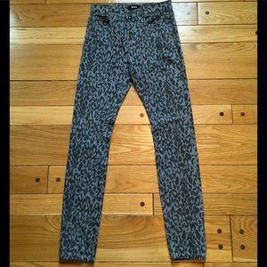 BDG Leopard Print High Rise Cigarette Ankle Jeans