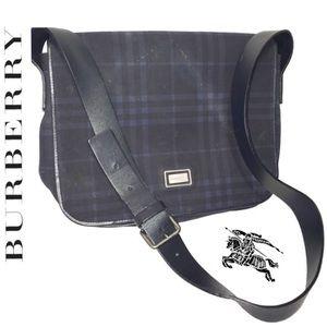 Burberry Handbags - BURBERRY Smoke Nova Check Messenger Bag Purse Auth