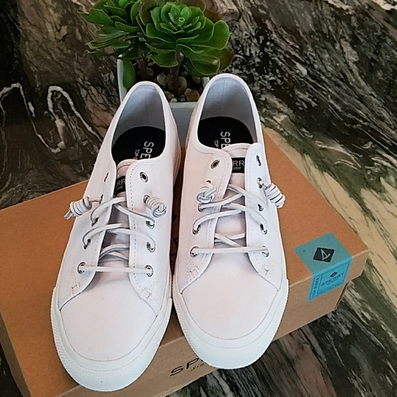 Sperry Sky Sail Canvas Sneaker In White